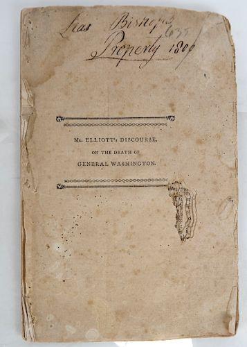 Elliott: Discourse on G. Washington Pamphlet