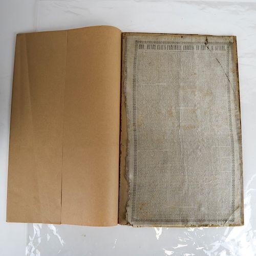 Henry Clay Farewell Address on Silk