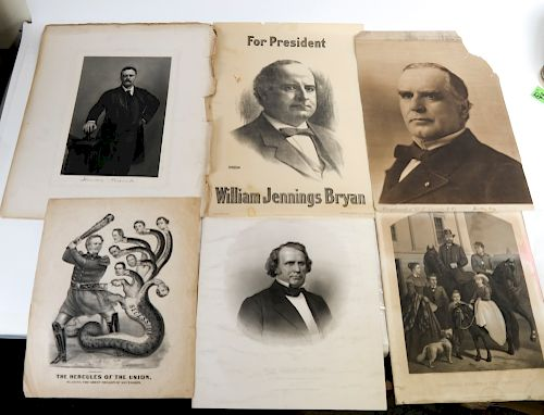 Broadsides and Engravings, Lithographs, Political