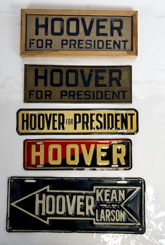 Hoover License Plate Tag Group