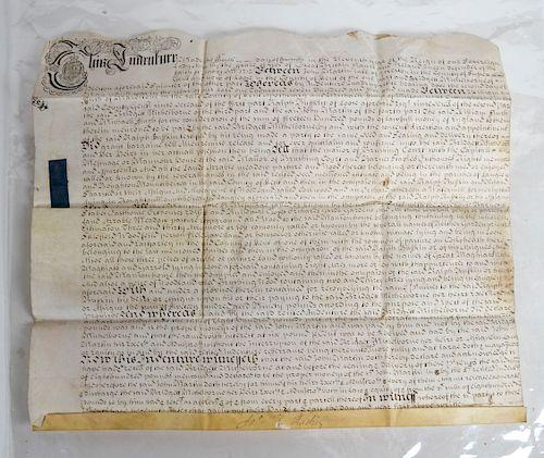 18th Century English Indenture