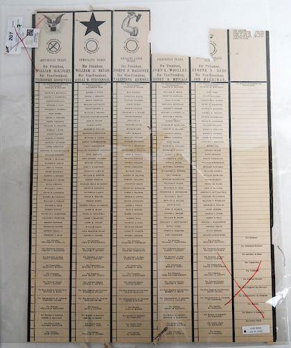 1900 Filled Presidential Election Ballot