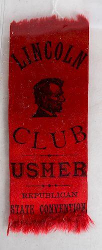 Lincoln Club Usher's Ribbon
