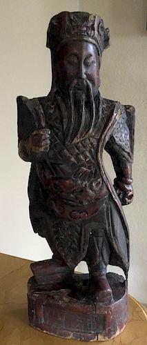 Wooden image of Guanyu, Korea, 14/15th Century