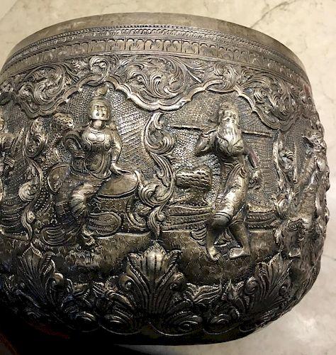 Burmese Silver Bowl, 19/20th Century
