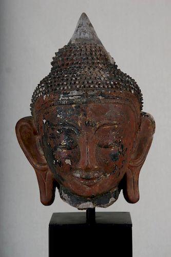Buddha Head, Ava Period, Burma, 16th Century