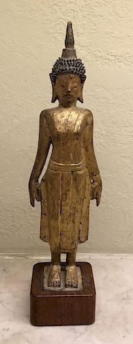 Wooden Buddha, 18th Century, Laos