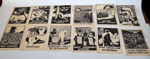 Paul Hartzell Socialist Labor Set of 31 Linocuts