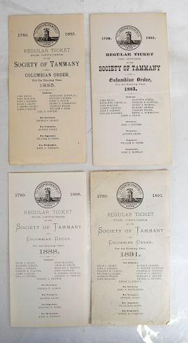 Society of Tammany Officers Tickets