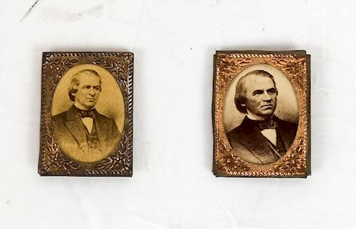 Pair of Gem-Sized Andrew Johnson Photos