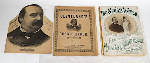 1892 & 1896 Grover Cleveland Campaign Sheet Music
