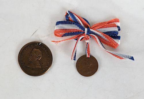George B. McClellan Pair Medalets 1864