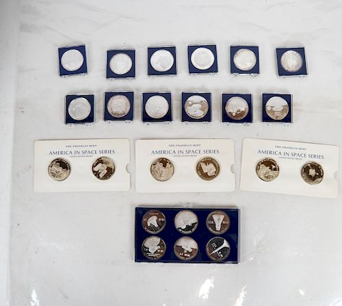 50 Silver Commemorative U.S. Space Program Medals