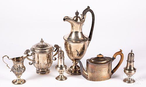 English silver tablewares