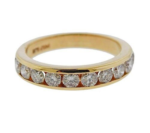 14k Gold Diamond Wedding Band Ring