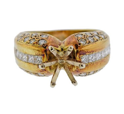14K Gold Diamond Ring Mounting
