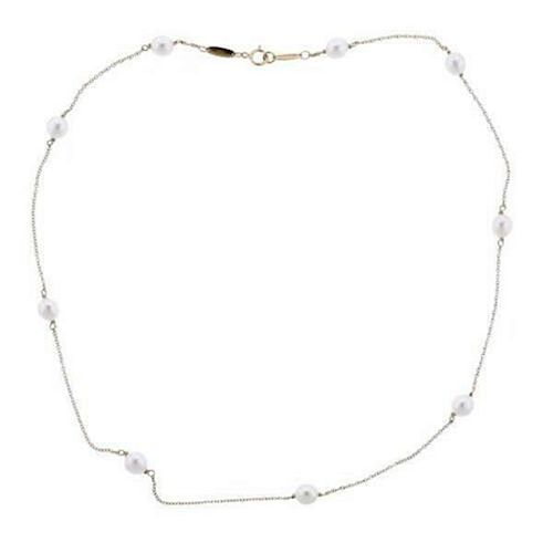 Tiffany & Co Peretti Pearl by the Yard 18k Gold Necklace