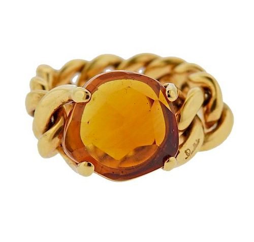 Pomellato Lola 18k Gold Citrine Ring