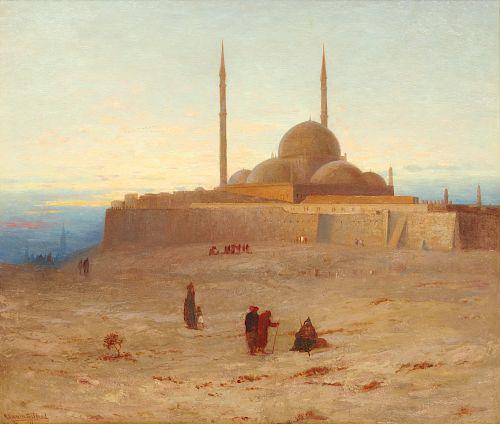 ROBERT SWAIN GIFFORD, (American, 1840-1905), The Citadel of Cairo, Evening, 1871