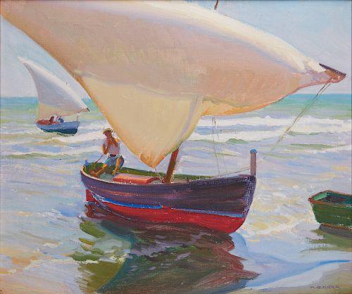 ARTHUR GROVER RIDER, (American, 1886-1975), On the Coast of Spain