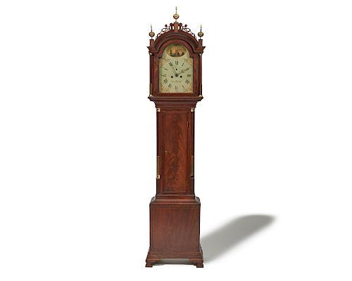 SIMON WILLARD (1753-1848) Federal Brass-Mounted Mahogany Tall-Case Clock