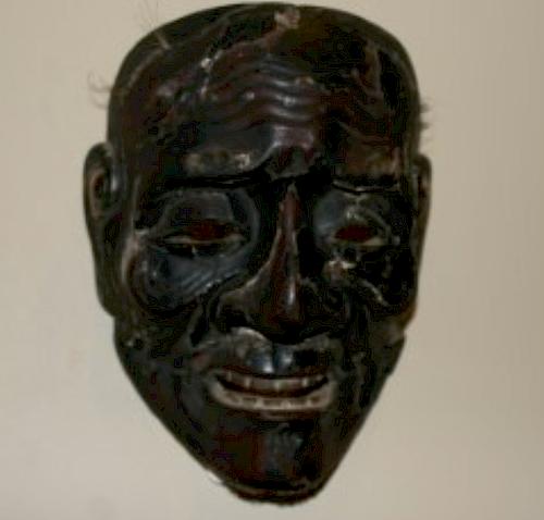 Noh Mask, Sankojoh signed Kawachi, Edo Period