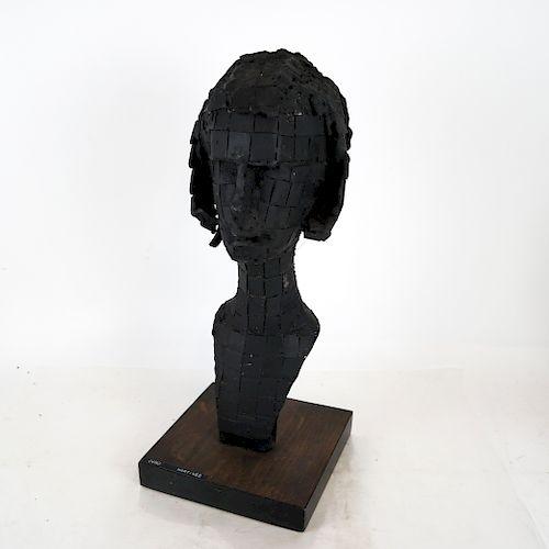 """Baltazar C. MARTINEZ:  """"Juno"""" - Iron Sculpture"""