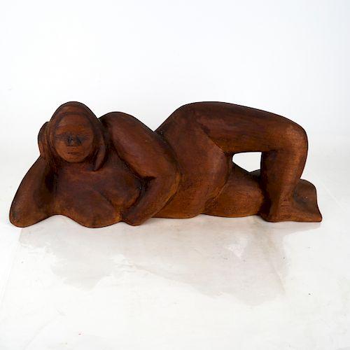 "Miriam NAAMAN:  ""Reclining Nude"" - Sculpture"