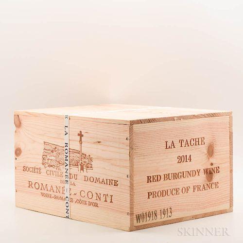 Domaine de la Romanee Conti La Tache 2014, 6 bottles (owc)