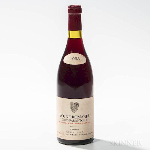 H. Jayer Vosne Romanee Cros Parantoux 1993, 1 bottle