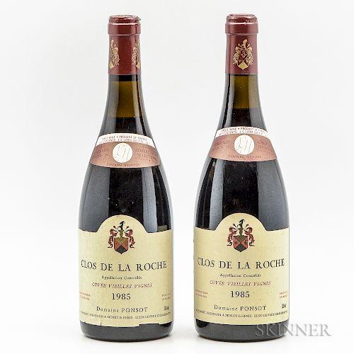 Ponsot Clos de la Roche Vieilles Vignes 1985, 2 bottles