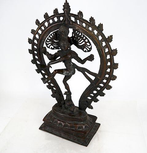 Antique Tibetan Bronze Sculpture of Deity