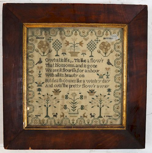 1832 Child's Needlepoint Sampler