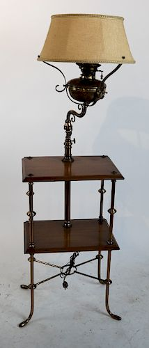 Brass Cistern-Style Lamp Table