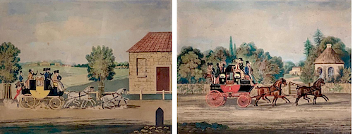Pair of Lithographs After J.Pollard