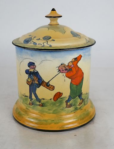 A.G.R. Crown Ducal - Golfers Canister