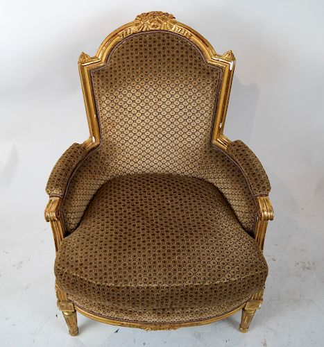 Louis XVI Gilt Wood Bergere