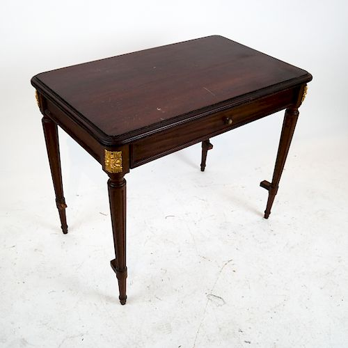 French Mahogany Louis XVI-Style Bureau Plat