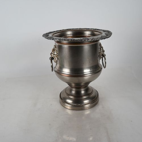 Silver Plate Campagna Urn Wine/Champagne Cooler