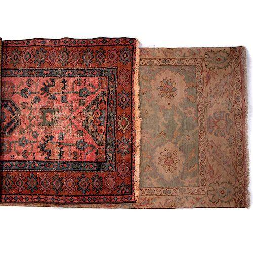 Two vintage carpets.