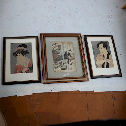 Three Asian Works: Figures, Prints