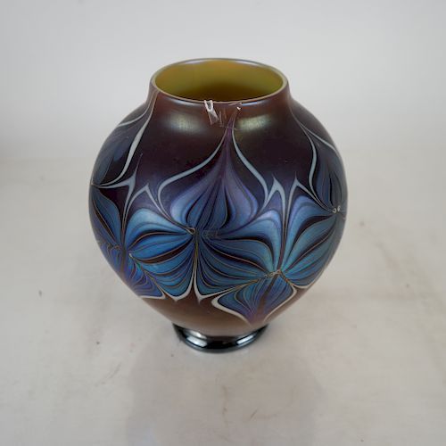 Art Glass Decorated Vase