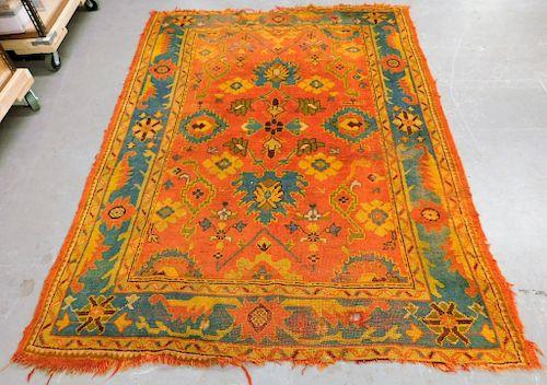 Antique Turkish Oushak Carpet Rug