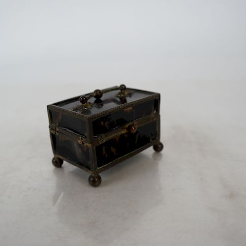 Continental Brass Footed Patch Box
