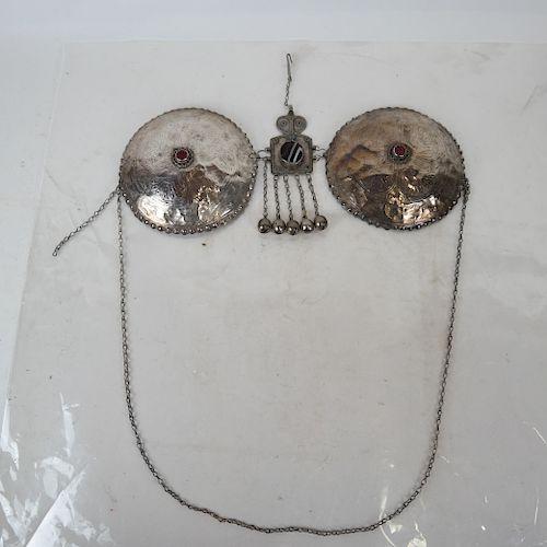 Tibetan Silver Bra-Style Breastplate