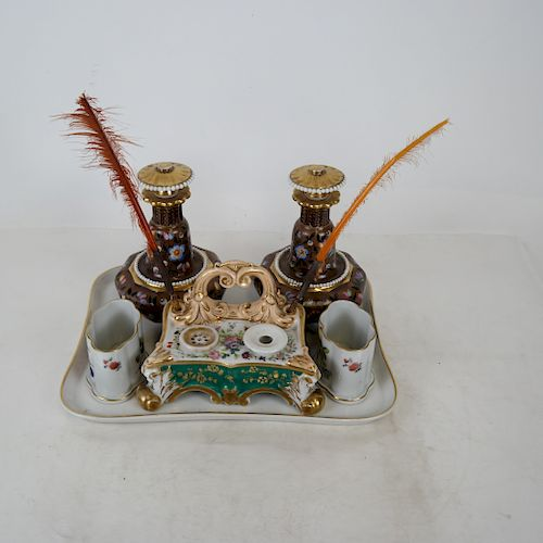 Group of Six Items: Limoges, Herend, Others