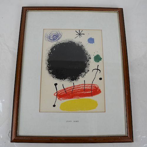 Joan MIRO: Composition - Color Lithograph