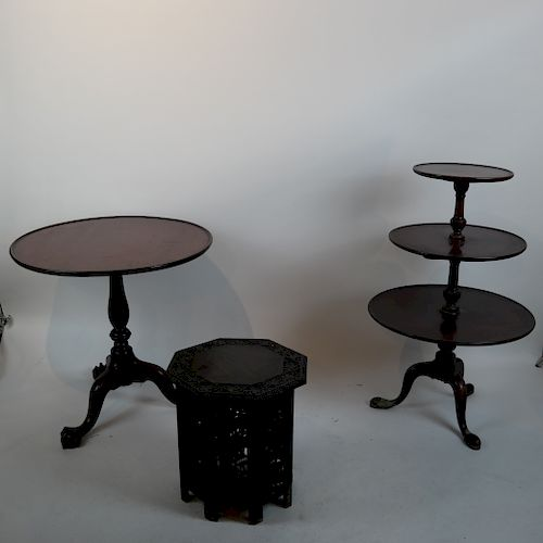 3 Tables - Asian Low,  American Tilt-Top, Other