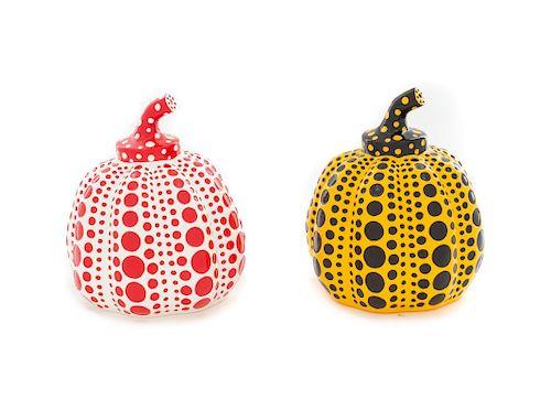 Yayoi Kusama (Japanese, b. 1929) Pumpkins (Yellow and Red), 2013