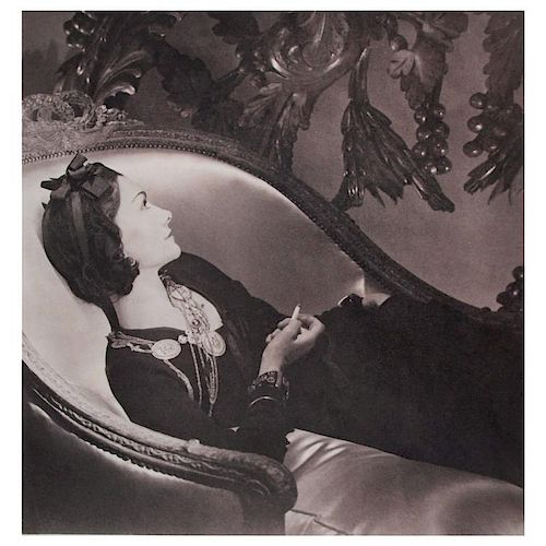 Horst P Horst Coco Chanel Platinum Palladium Print